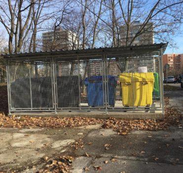 Nove kontajnerové stojisko na Považanovej ulici v Bratislave