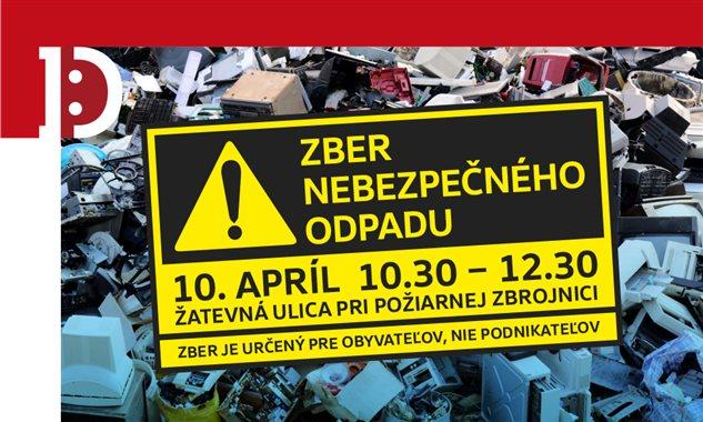 Zber nebezpečného odpadu v dúbravke. 10.apríl